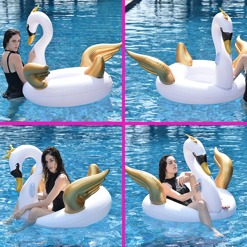 Clever 2 Colors 150cm Pool Float Inflatable Boat Swan Swimming Float Adult Tube Raft Kid Swim Air Mattresses Ring Summer Water Toy 2018 Sports & Entertainment