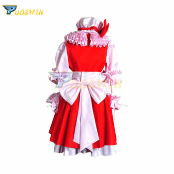 Anime Touhou Project Flandre Scarlet Hakurei Reimu Satin Cosplay Costume Custom Made