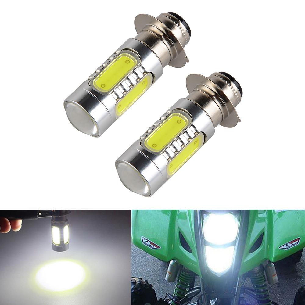 2x Super White Headlight Bulbs For Yamaha YFM350 Big Bear Warrior Wolverine 1999