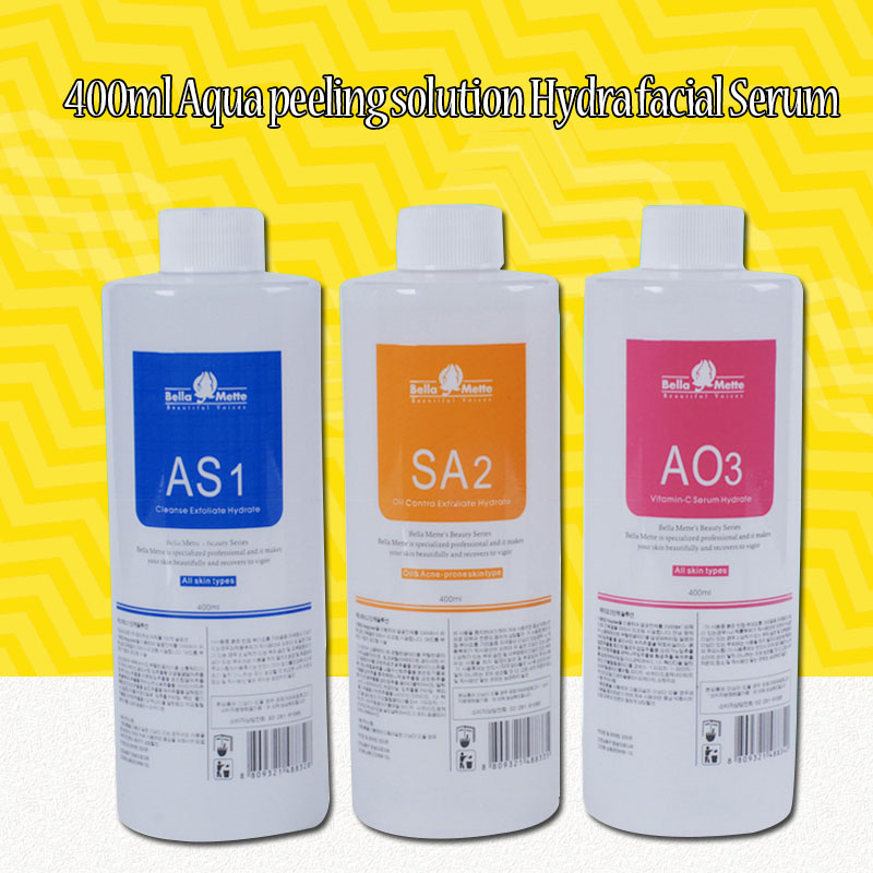 Professional Korea Imported Oxygen Peel Machine Aqua Peeling Solution 400ml Per Bottle Aqua Facial Serum Hydra Facial Serum for