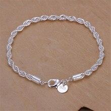499dd58b1481 925 Plata coreano populares de Flash cuerda pareja pulsera de plata amante  de la mano de la cadena de las mujeres de la pulsera .