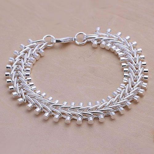 H050 925 gratis frakt silver armband, 925 gratis frakt silver mode smycken Fish Bone armband / auxajmea arlajisa