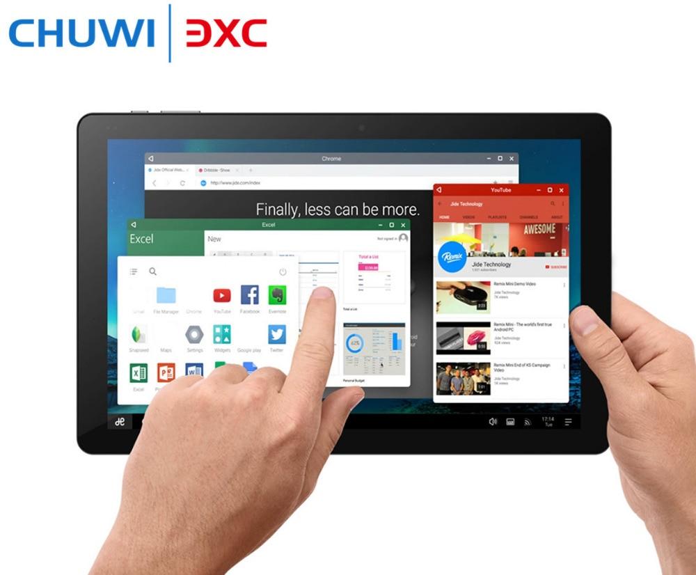 Original 10.8 Inch CHUWI Hi10 Plus Tablet PC Windows 10 Android 5.1 Intel Cherry Trail Z8350 Dual OS Quad Core 4GB 64GB HDMI chuwi hi8 air tablet pc intel x5 quad core dual os android 5 1 windows 10 tablets 8 0 inch ogs 1920x1200 ips screen dual camera