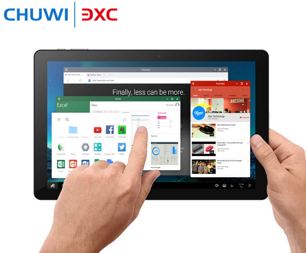 Original 10.8 Inch CHUWI Hi10 Plus Tablet PC Windows 10 Android 5.1 Intel Cherry Trail Z8350 Dual OS Quad Core 4GB 64GB HDMI