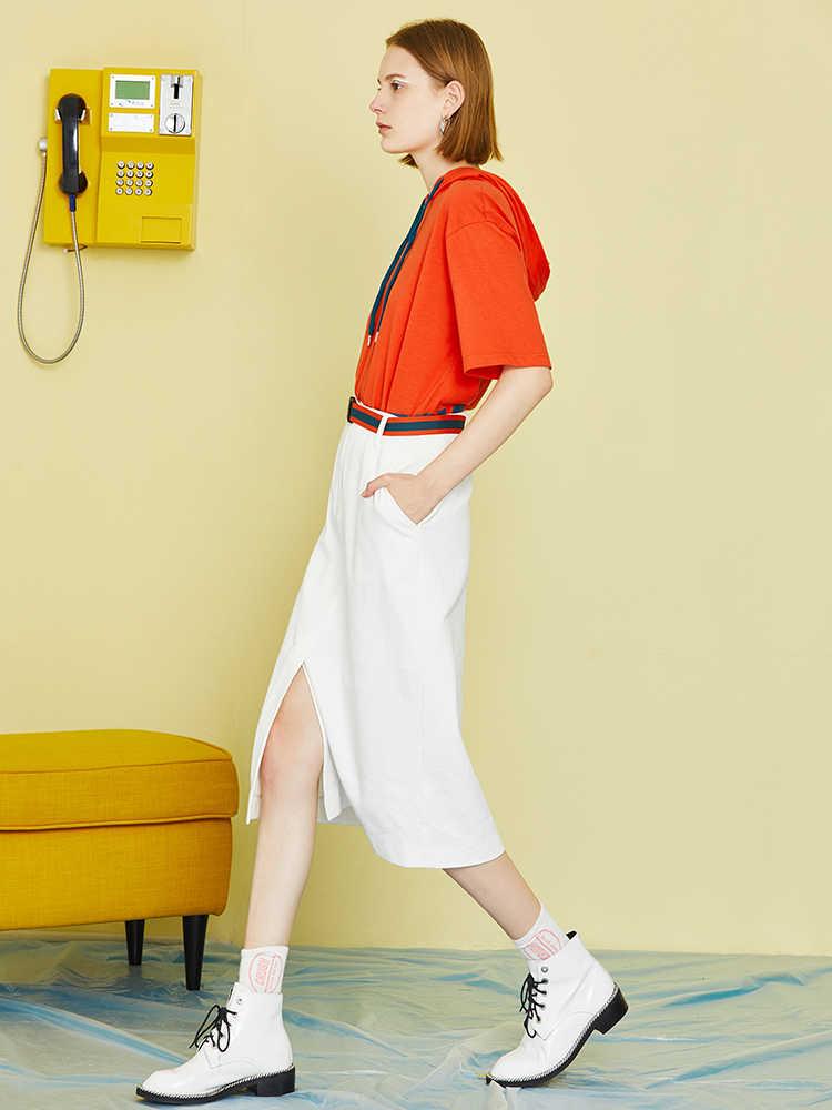 Nueva falda Toyouth de verano para mujer, minifalda con abertura en la cintura, estilo gótico Punk, faldas de hebilla con bolsillos, ropa de calle