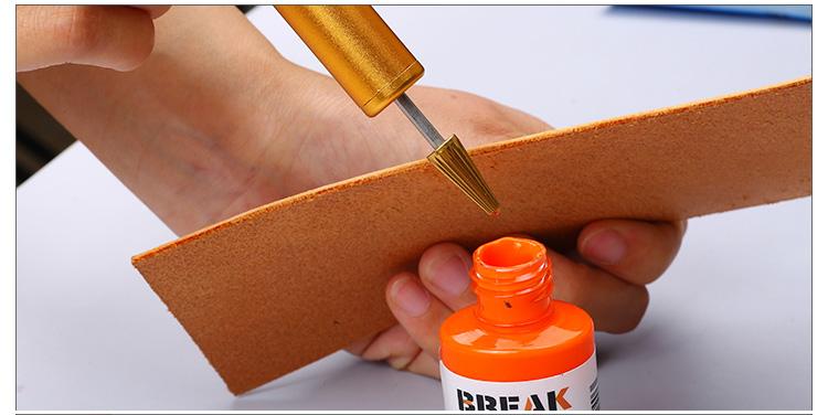 Brass Leathercraft Edge Dye Roller Treatment Oil Painting Applicator
