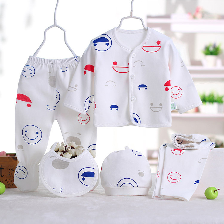 Baby clothing set baby girl Clothes 0-3M Newborn Soft Underwear girls clothing sets cotton baby boy clothes ropa de 5 pcs