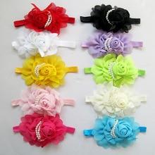Baby Hair Bands Hairband Ribbon Pearl Baby Girls Flowers Headband Kids Hair Accessories Headwear