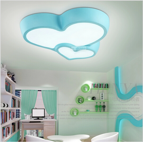 Modern Children S Bedroom Ceiling Lamps Led Blue Pink Is Suitable For Voltage 90 260v