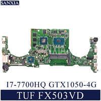 KEFU DABKLMB28A0 Laptop motherboard for ASUS TUF Gaming FX503VD original mainboard I7-7700HQ GTX1050-4G