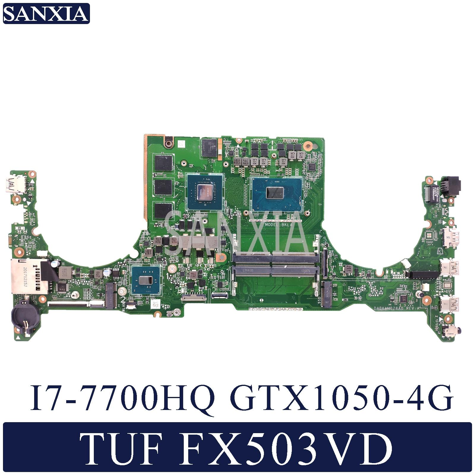 KEFU DABKLMB28A0 placa base de Computadora Portátil para ASUS TUF de FX503VD placa base original de I7-7700HQ GTX1050-4G