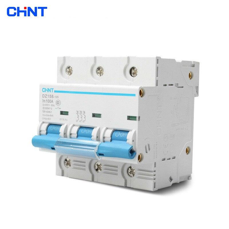 CHNT High - Power Household Circuit Breaker Three - Phase Air Switch DZ158 3P 100A