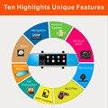 2016 Новый 7 Дюймов Сенсорный Экран Автомобилей Зеркало Заднего Вида Монитор С GPS DVR FM Передатчик Для Android 4.4 Quad Core 1 Г DDR3 16 Г Флэш-