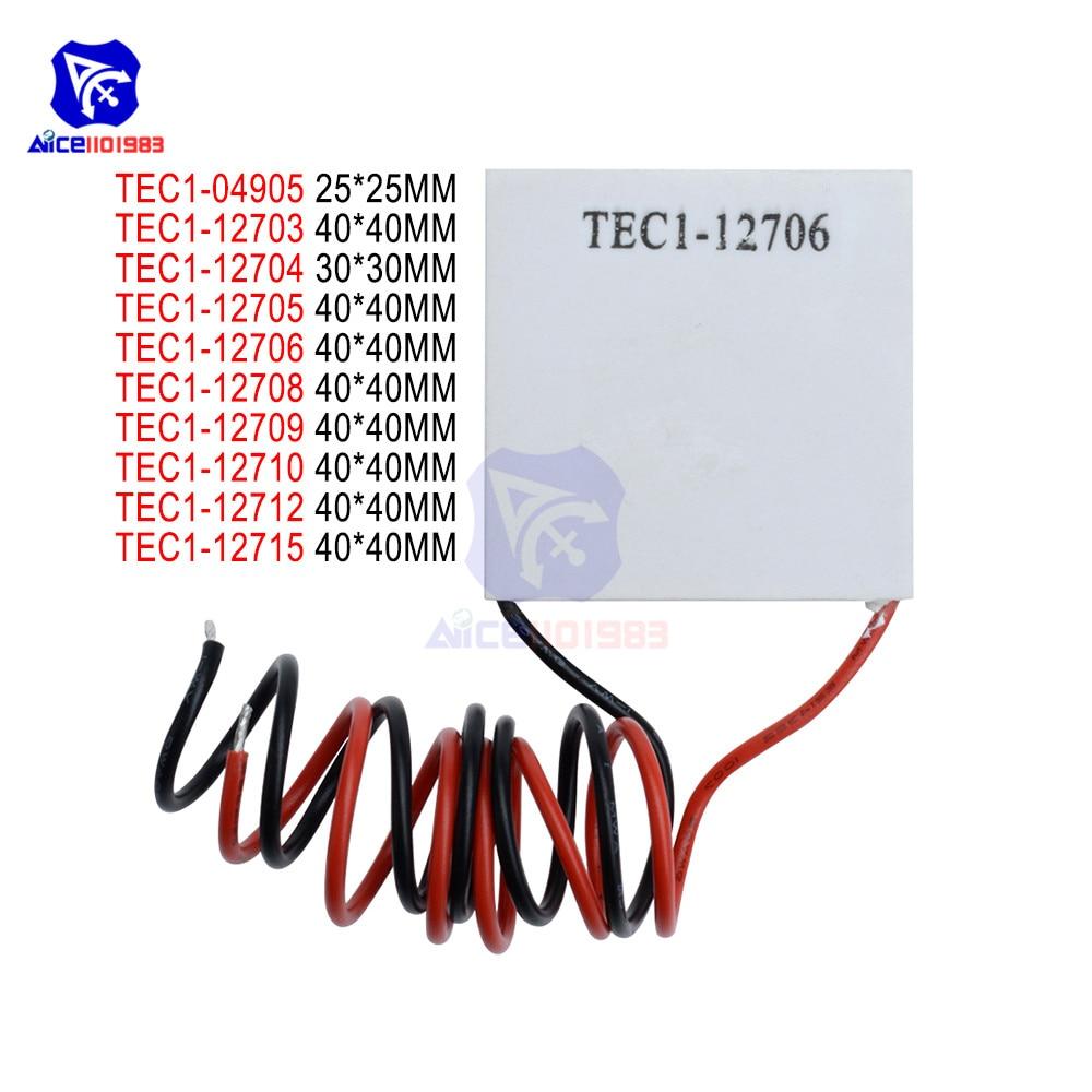 TEC1-12703 TEC1-12704 TEC1-12705 TEC1-12706 TEC1-12710 TEC1-127015 Heat Sink Thermoelectric Cooler Cooling Pad Peltier Plate