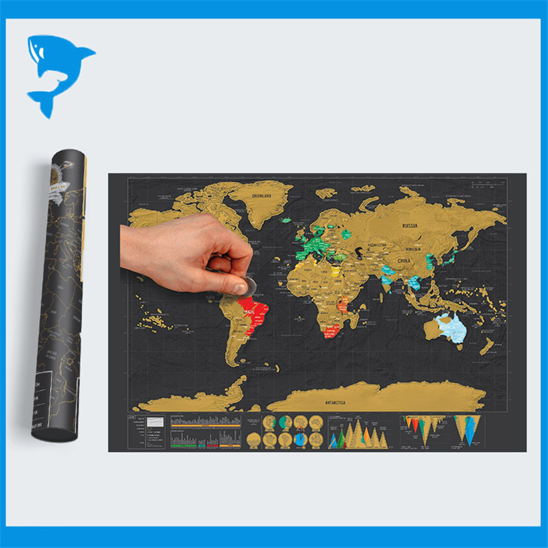 new mini black deluxe travel scratch world map poster traveler vacation log gift scratch off world map gifts ideas free shipping in map from office school