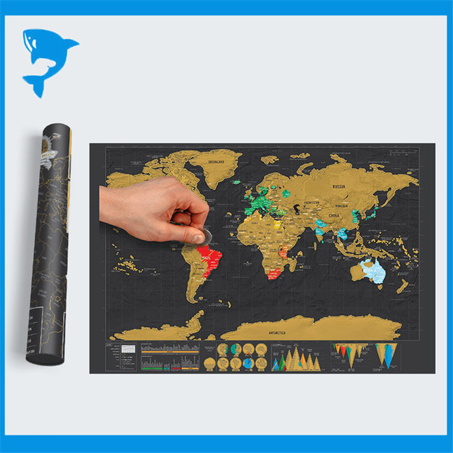 New mini black deluxe travel scratch world map poster traveler new mini black deluxe travel scratch world map poster traveler vacation log gift scratch off world gumiabroncs