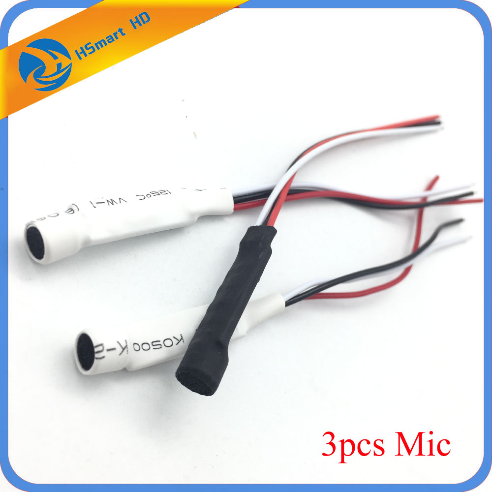 CCTV Mini Microphone For Audio Pick Up In Wide Range Camera Mic Audio Microphone Security DVR System CCTV Microphone