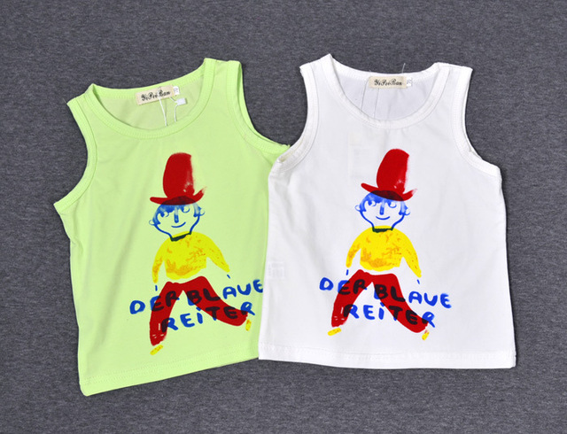 Summer Casual Tops T shirts Cotton Unisex Boys Girls T shirts Children Print t-shirts bobo chose girls clothes