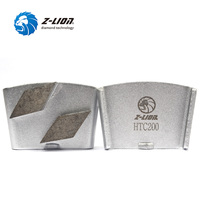 Z Lion Diamond Concrete Grinding Blade Disc Snap Joint Grinding Block Segment Diamond Trapezoid Cocrete Floor