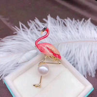 Fashion pearl temperament flame bird brooch with temperament animal pin