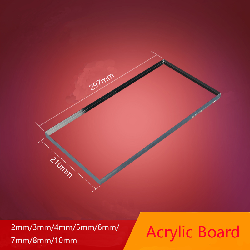 A4 acrylic board Clear Transparent Extruded Plexiglass Sheet organic polymethyl methacrylate 1mm 3mm 8mm thickness 297x210mm