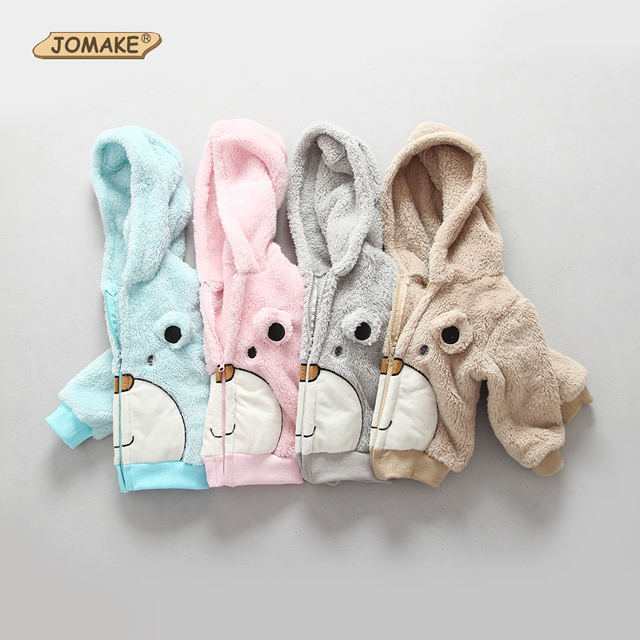 Cute Cartoon Bear Kids Coat Hooded Fleece Long Sleeve Autumn Winter Girl Boy Outerwear&Coats Children Clothing Warm Baby Clothes