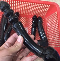 Wholesale sales of new natural obsidian quartz glass penile manual carving penile