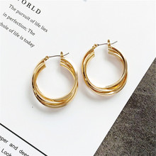 Ear ring earrings contracted multi-layer circular geometry Fashion wedding party