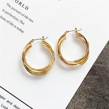 Ear ring earrings earrings contracted multi-layer circular geometry Fashion earrings earrings wedding party цена