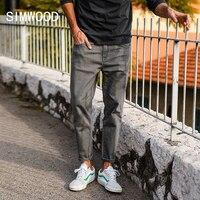 Simwood 2018 جديد وصول الرجال الجينز الربيع الساخن بيع الدينيم السراويل الجينز ضئيلة عارضة زائد حجم السراويل العادية 180058