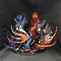 1 Pcs Anime Naruto PVC Action Figure Uchiha Itachi Feuer Sasuke Susanoo Sammeln Modell Spielzeug geschenke für jungen zu hause dekoration 21 cm