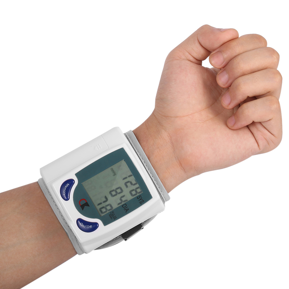 Health Care Automatic Digital Wrist Blood Pressure Monitor for Measuring Heart Beat Pulse Rate DIA Tonometer Sphygmomanometer health care automatic digital lcd wrist blood pressure monitor for measuring heart beat and pulse rate dia sys