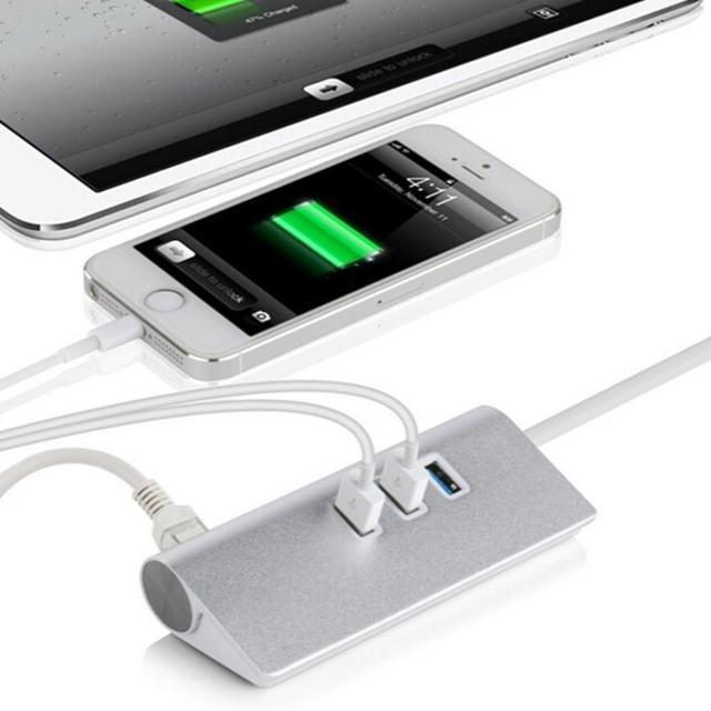 Melhor Preço do Alumínio NIC Gigabit Ethernet LAN Rede De 3 Portas USB 3.0 Portas USB HUB RJ45