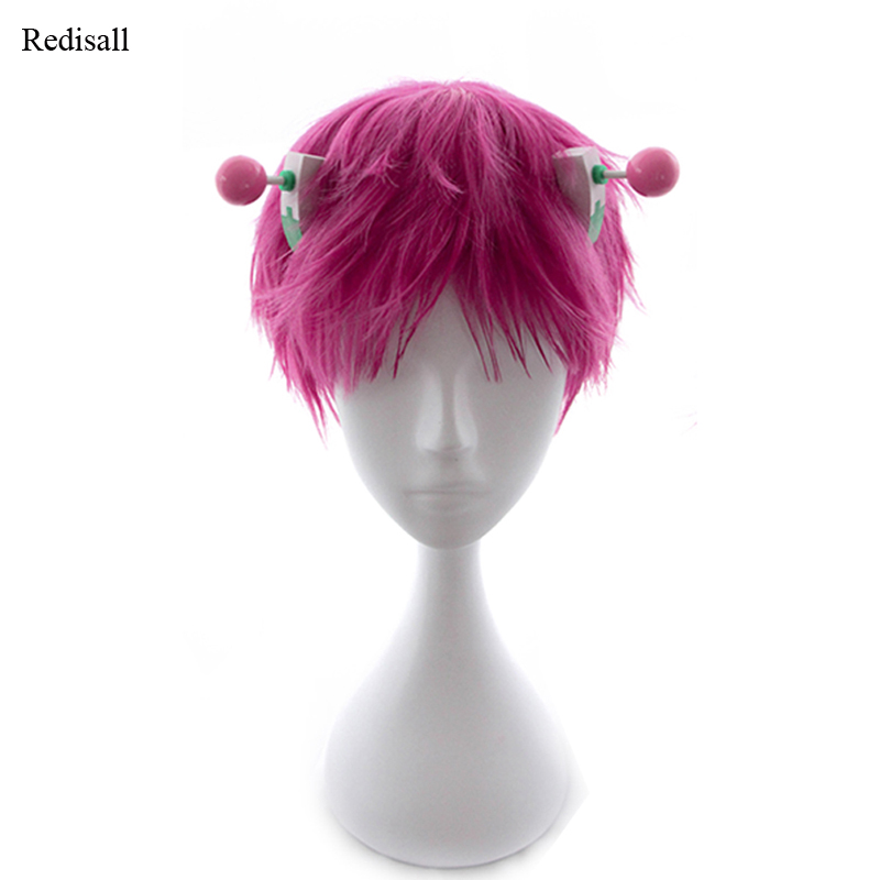 The Disastrous Life Of Saiki K. Saiki Kusuo Pink Wig Cosplay Wig + Accessory Halloween Synthetic Hair For Adult