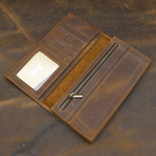 Fashionable style crazy horse leather wallet retro men purse manufacturer direct sale