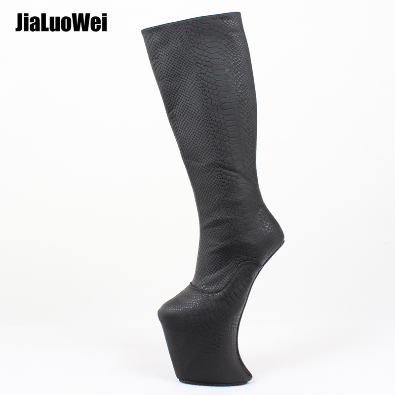 Women Platform Boots Heelless Sexy Knee High Extreme High Heel Ballet Wedge Boots for Female Shaft Fetish ShoesWomen Platform Boots Heelless Sexy Knee High Extreme High Heel Ballet Wedge Boots for Female Shaft Fetish Shoes