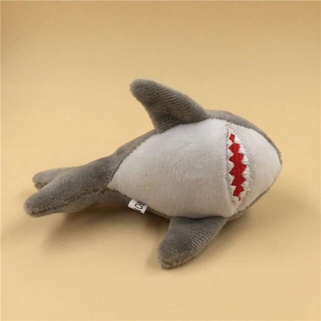Pluszowe breloki Shark wypchana zabawka dla lalek, Mini małe zwierzę oceaniczne klucz łańcuszek wisiorek pluszowe zabawki, zabawki na imprezę dla dzieci