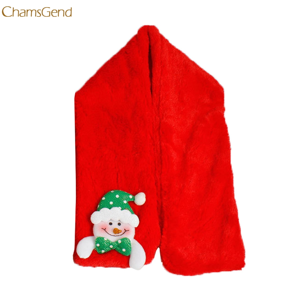ChamsGend 2018 Christmas Soft Neck Wrap Winter Warm Children Scarf Scarves Gift Snowman Master Designer Dropship 170901