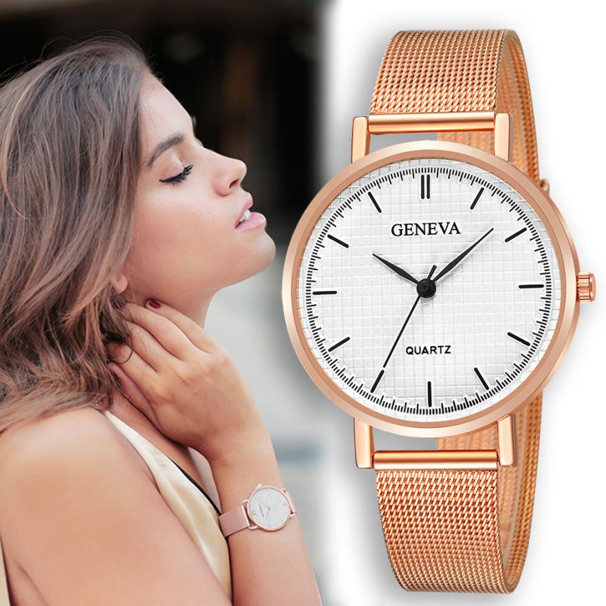 Women Watches Luxury High Quality Relogio Feminino Fashion Ladies Woman Girl Unisex Stainless Steel Quartz Wrist Watch Relogio 2
