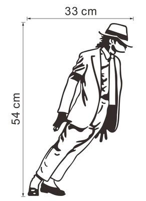 Fashion Cartoon Michael Jackson Wall Stickers Wall Art Home Decor