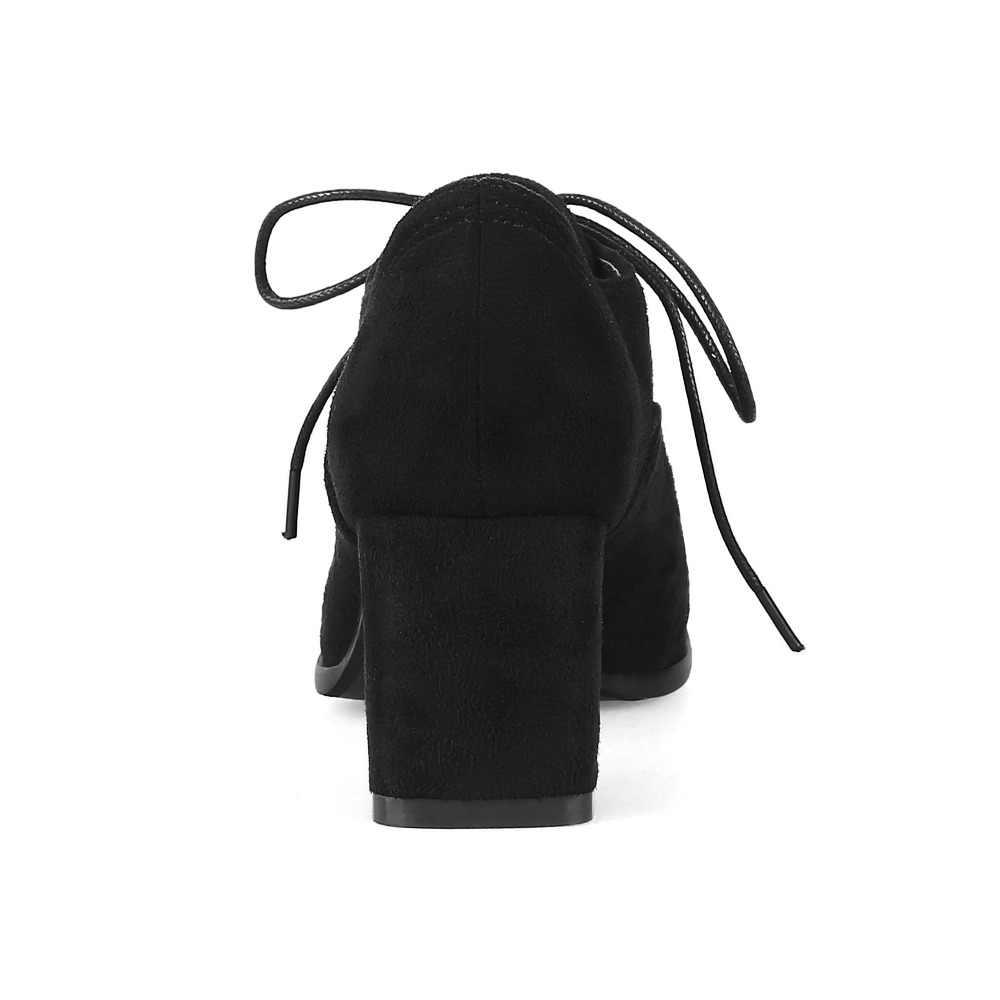 Yüksek Kalite Yeni Süet Kare Topuk kadın yarım çizmeler Moda Zarif Kadın Patik Sonbahar Kış yarım çizmeler Artı boyutu 31 -48