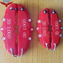 KUNBABY 50 комплектов Красный ABS универсальный автомобиль 3D слово стиль дисковые заглушки дисковых тормозов передний и задний размер M + S для кол...