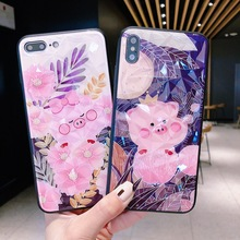 For iPhone X XS Max XR Cute Cartoon Diamond Pig Phone Case For iPhone 6 6s 7 8 plus Cover Fashion Crown Pig Soft TPU Cases Capa цена и фото