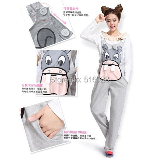 Gravida Jumpsuit Maternity Pants Clothes For Pregnant Women Overalls Roupa Gestante Trousers Autumn Winter Pregnancy Fashion