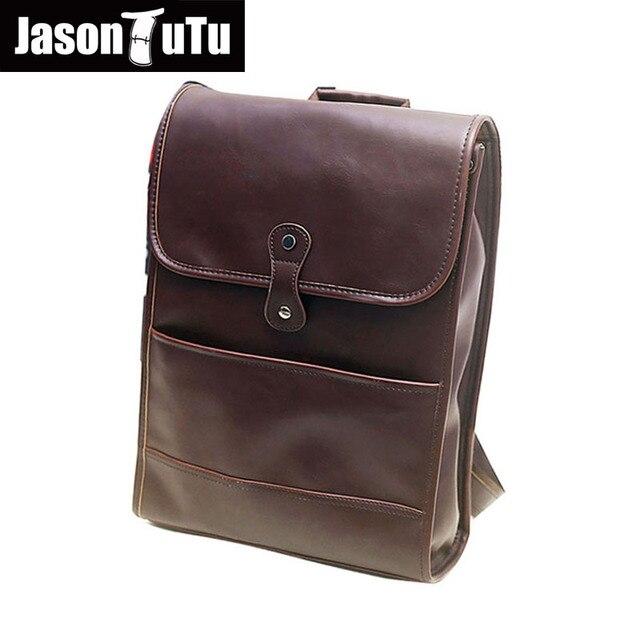 c9aa91c10ee6 Джейсон Туту Винтаж рюкзак Mochilas мужчин Back Pack Обувь для мальчиков 14  дюймов ноутбук рюкзак высокое