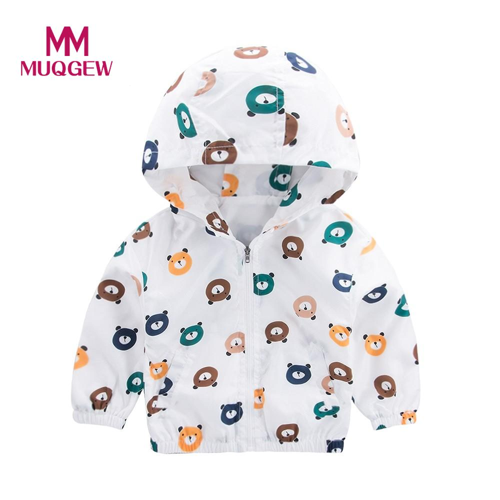 MUQGEW Jacket Bear head Baby Outerwear Coat Boys Girls Kids Hooded Clothing Printed zipper hooded jacket suit children winter #3 одежда на маленьких мальчиков