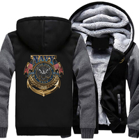2018 Men Autumn Winter Jackets and Coats Personality United States Navy Coat Casual Fashion Hooded Zipper Hoodies