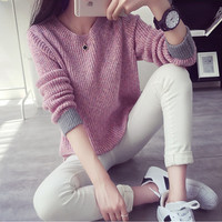 Autunm Winter Fashion Women Sweaters 2017 Jumper Pullovers Korean Style Casual Clothing Pull Femme Slim Knitted