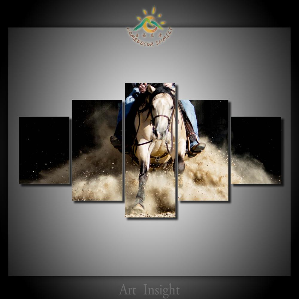 5 Piecesset Runing Horse Modern Wall Art For Wall Decor Home Decoration Picture Paint on Canvas Prints Painting