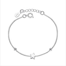TJP Trendy Lady Star Silver Bracelets Accessories Fashion Women 925 For Party Anklets Hot Female Bijou